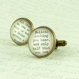literary cuff links