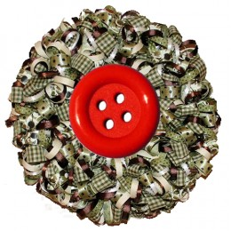 A holly-wreath button to adorn your digital page.