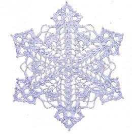 Another digital snowflake embellishment.