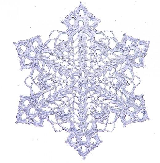 Another digital snowflake embellishment.