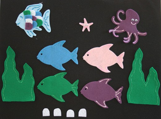 The Rainbow Fish Felt Board Story