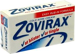 Tube of Zovirax cream