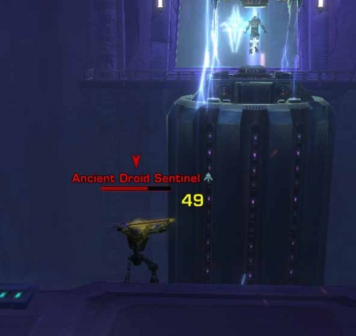 SWTOR Using Overload Tactics to Defeat the Ancient Droids in the Dashade Prison