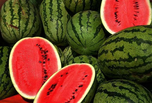 """Watermelon -- it's a good fruit. You eat, you drink, you wash your face.""  --  Enrico Caruso Photo credit: Steve Evans, India, Creative Commons via Wikimedia Commons"