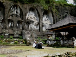 Ancient site of Gunung Kawi (carved temples); Ubud, Bali, Indonesia.
