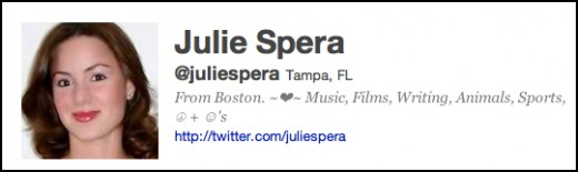 Follow Julie twitter.com/#!/juliespera