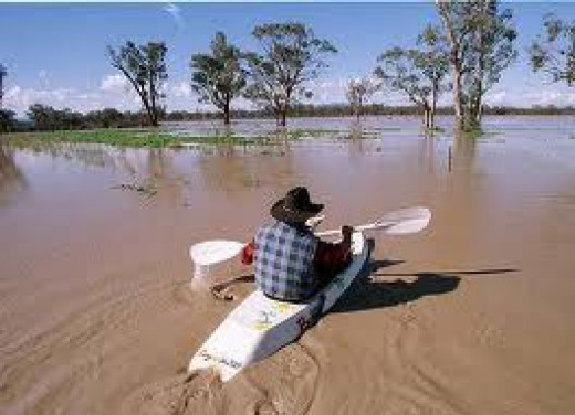So when did it flood in Australia . . . oh yeah almost a year ago and the water still hasn't receded?