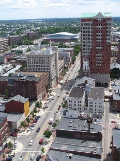 The largest cluster of available jobs are located in Manchester NH.