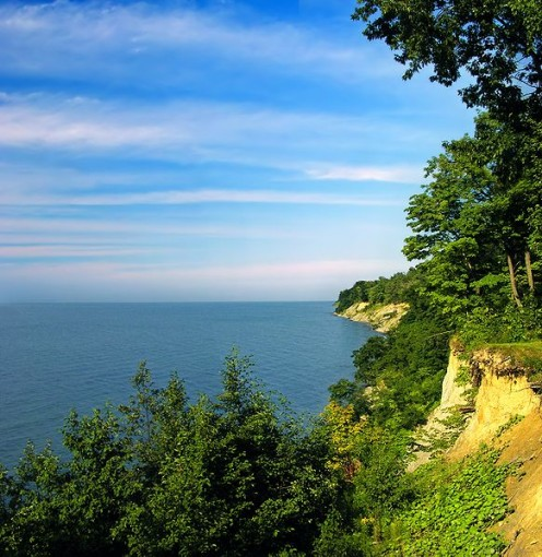 Lake Erie bluffs, David M. Roderick Wildlife Reserve, Erie County in Pennsylvania.