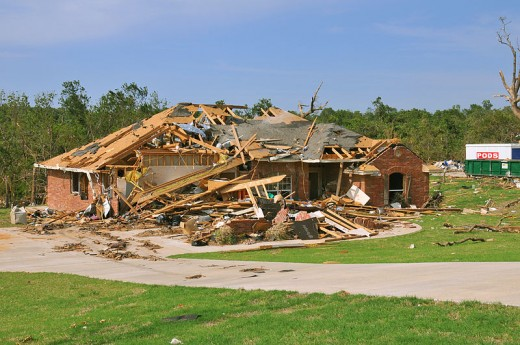 Little remains of a home destroyed by one of the 22 confirmed tornadoes that swept across eastern Oklahoma on May 10. The powerful storms produced the fourth largest single-day outbreak in the state's history. FEMA Photo by Win Henderson