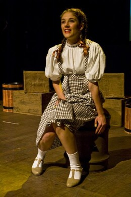 Natasha Hoeberigs starred as Dorothy in The Regals Musical Society's 2008 production of The Wizard Of Oz.