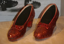 Dorothy's Ruby Slippers, 1938 Sixteen-year-old Judy Garland wore these sequined shoes as Dorothy in The Wizard of Oz.