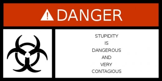 warning about stupidity