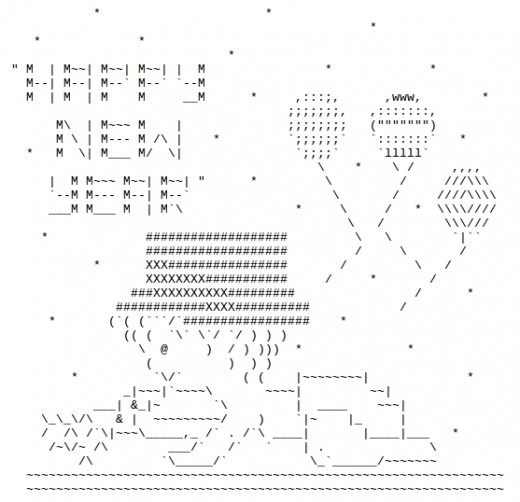 One Line Ascii Art Iphone : Happy new year ascii text art