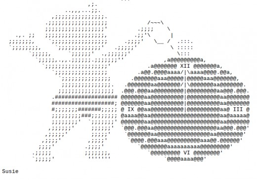 One Line Ascii Art New Year : Happy new year ascii text art hubpages