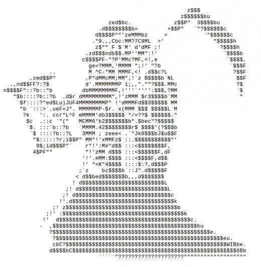 One Line Ascii Art Holidays : Happy new year ascii text art hubpages