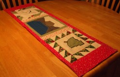 Quilted Table Runner is Unique Wedding Gift to a Chinese Couple