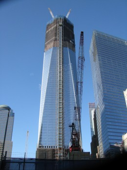 One World Trade Center, up to the 90th floor; December 18, 2011.