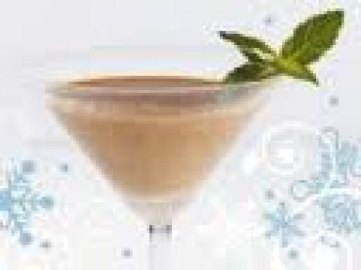 Tropical Peach-Mango Martini