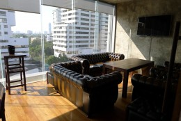 A private lounge room on the 8th floor.