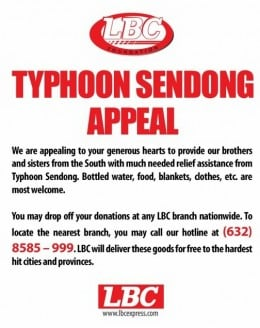 LBC accepts donations in any of its branches.