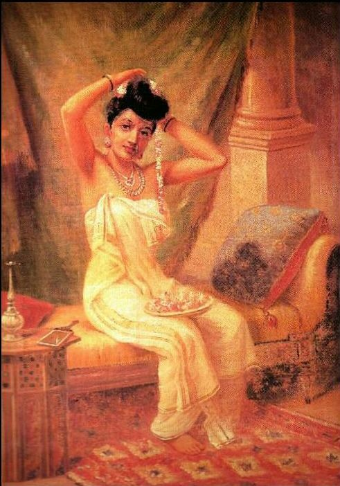 Raja Ravi Varma, Lady in Her Dressing Room