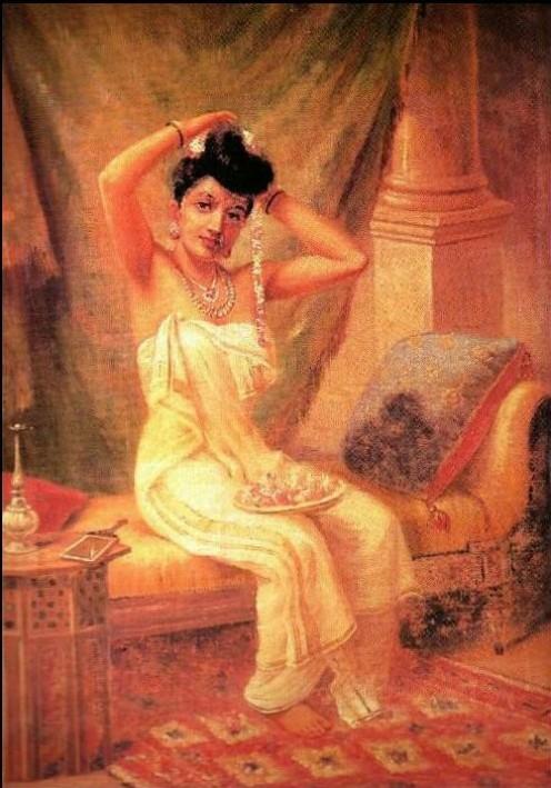 Raja Ravi Varma, Lady in Her Dressing Room