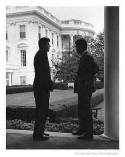 Jack and Bobby Kennedy: working at the White House.