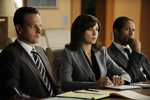 "Charles and Margulies try to keep their attraction hidden on ""The Good Wife."""