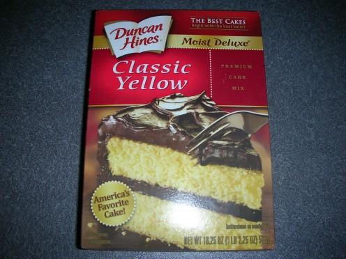 Boxed cake mix