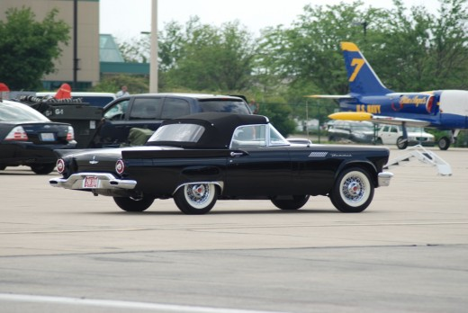 1957 Ford Thunderbird with the Blue Angels