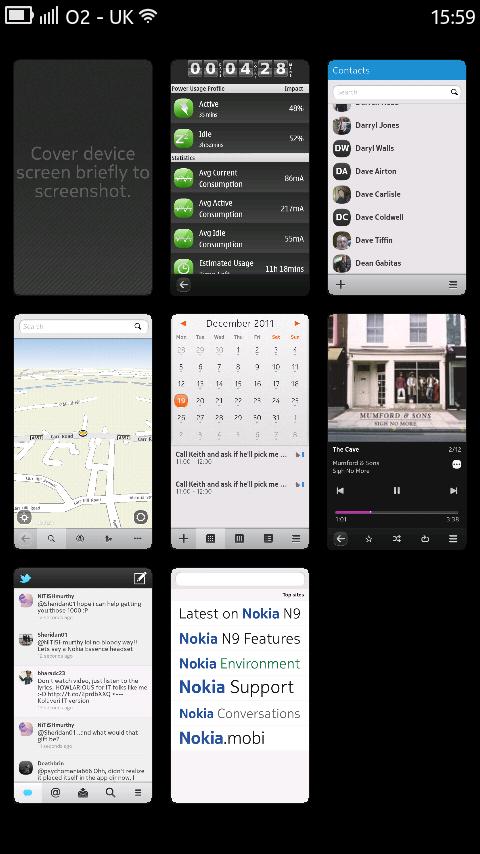 N9 open apps