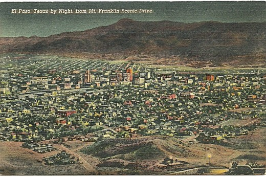 EL PASO, FROM MT. FRANKLIN SCENIC DRIVE