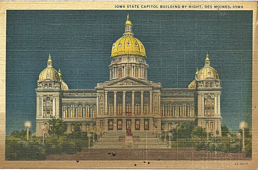 IOWA STATE CAPITAL, DES MOINES, IOWA