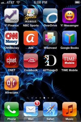The OverDrive Media Console iPhone, iPad and iPod touch app.