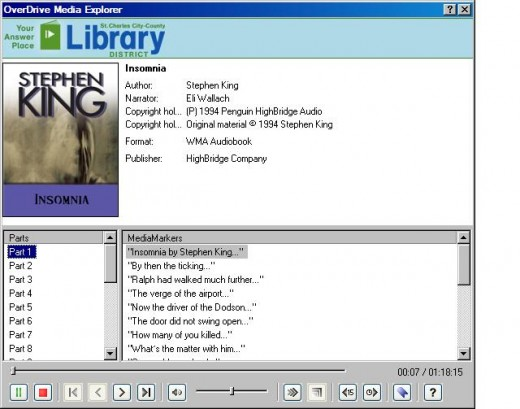 View detailed information about select titles in the OverDrive Media Console desktop client.
