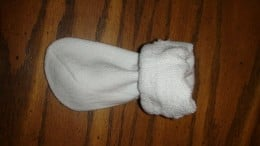 Step 1:  Fold down the cuff of the sock.