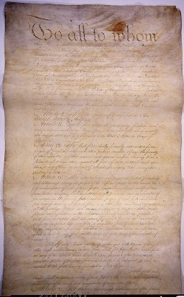 The Articles of Confederation, ratified in 1781