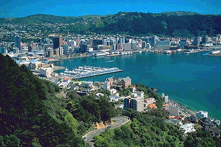 Here is New Zealand's Capital the city of Wellington.