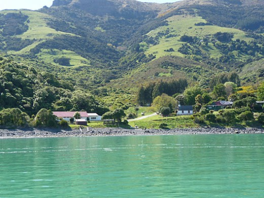 The beautiful colonial town of Akaroa