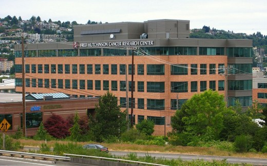 Cancer research is done throughout the U.S. in buildings like this one on the campus of the Fred Hutchinson Cancer Research Center in Seattle, Washington.