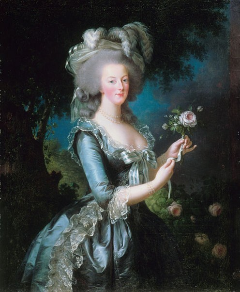 Marie Antoinette with the rose (Palace of Versailles via Project Google Art)