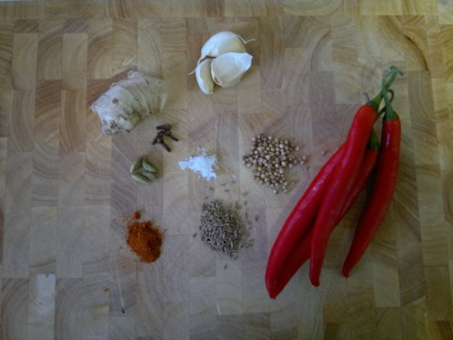 Spice Paste ingredients.