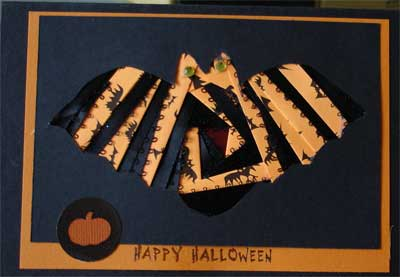 Halloween Card with Bat