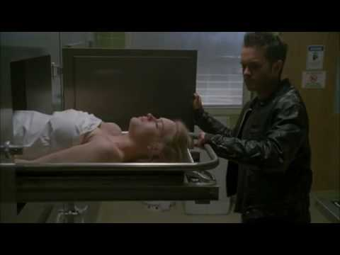 Riley is the one on the morgue slab