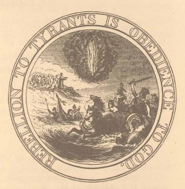 """Proposed Great Seal of the United States: """"Rebellion to Tyrants is Obedience to God."""""""