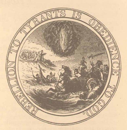 "Proposed Great Seal of the United States: ""Rebellion to Tyrants is Obedience to God."""