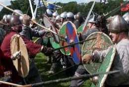 Saxon and Viking clash in one of how many dozen conflicts over a few hundred years of territorial claims