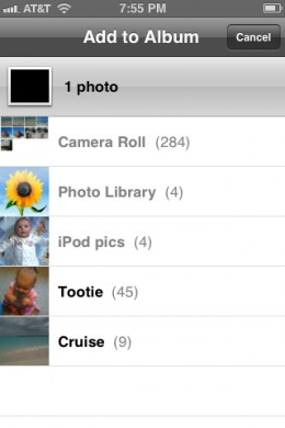 You can always go back at a later date and add new photos or pictures on your device to an existing album.