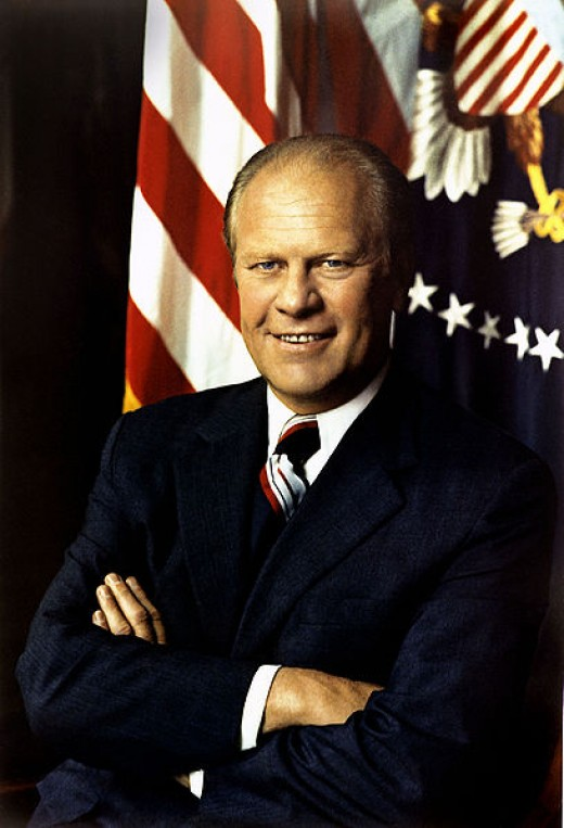 Gerald Ford,  First Man to Become President via the 25th Amendment